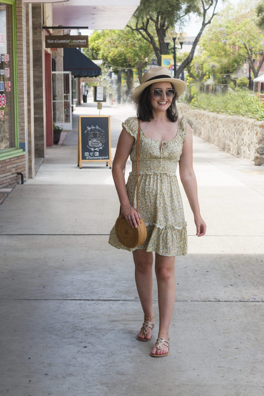 Cute Summer Floral Dress   A Good Hue