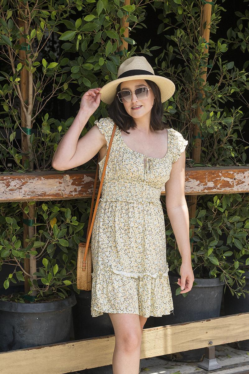 Affordable Summer Floral Dress   A Good Hue
