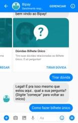 chatbor bipay recarga de celular e bilhete único