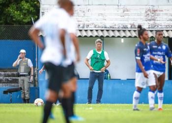 Renato reconheceu a atuação ruim do Grêmio diante do Aimoré. Foto: Lucas Uebel/Divulgação