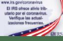 IRS is offering corona virus tax relief, Spanish