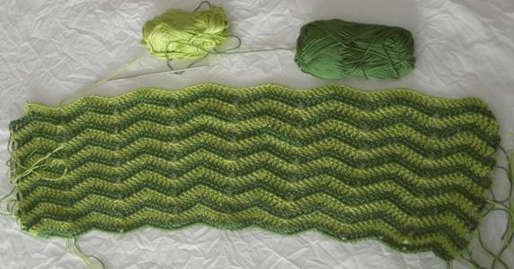 crochet rayure coton