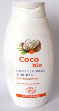crème de douche coco'bio natessance