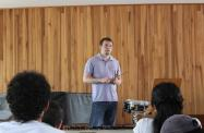 Giving a snare drum masterclass at the University of Costa Rica