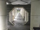 Entrance to the Zen garden looks like a space station corridor