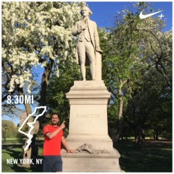 Finding Hamilton on a run in Central Park the day after seeing Hamilton