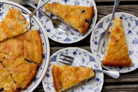 Apple Cake with Blueberries