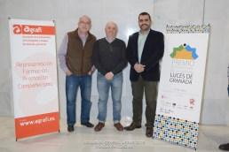 Ginés Cano y Elías Manrique, anteriores Presidentes de Agrafi, y José Luís Pozo actual Presidente