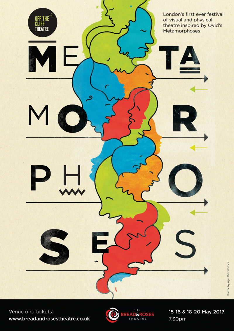Metamorphoses – theatre poster for Off The Cliff Theatre.