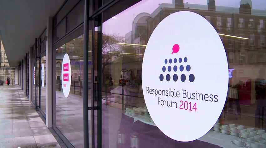 Responsible Business Forum, Dublin Castle, 11 Nov 2014.