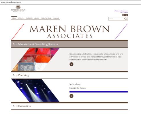 Website for Maren Brown Associates / design by Aga Grandowicz / agrand.ie