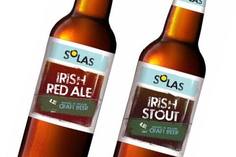 Solas –value craft beer – logo and label design