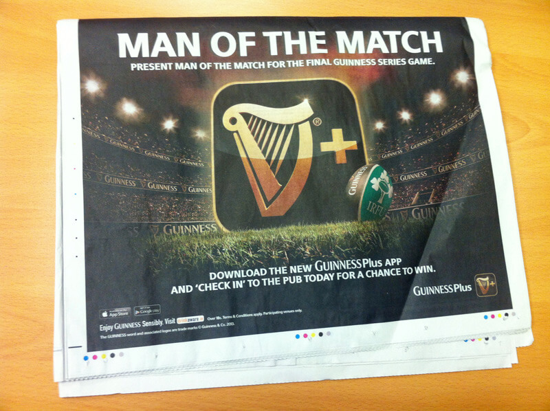 Guinness Series ad campaign_6sheet The-Irish-Times-half-page