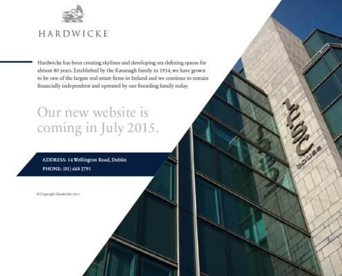 Hardwicke-holding-page, website design by Aga Grandowicz/agrand.ie.