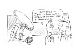 Cartoon by Laine Liska during production of Alien3.