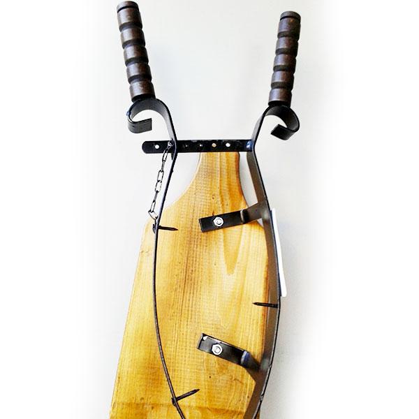 Portaprosciutto con base in legno -Certaldo