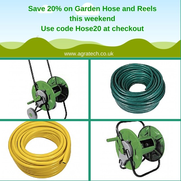 Save 20% on Garden Hose and Reels this weekend