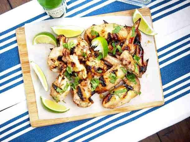 Sweet, sour, tangy margarita wings