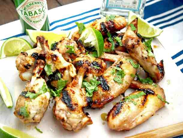 Sweet, sour, tangy margarita wings