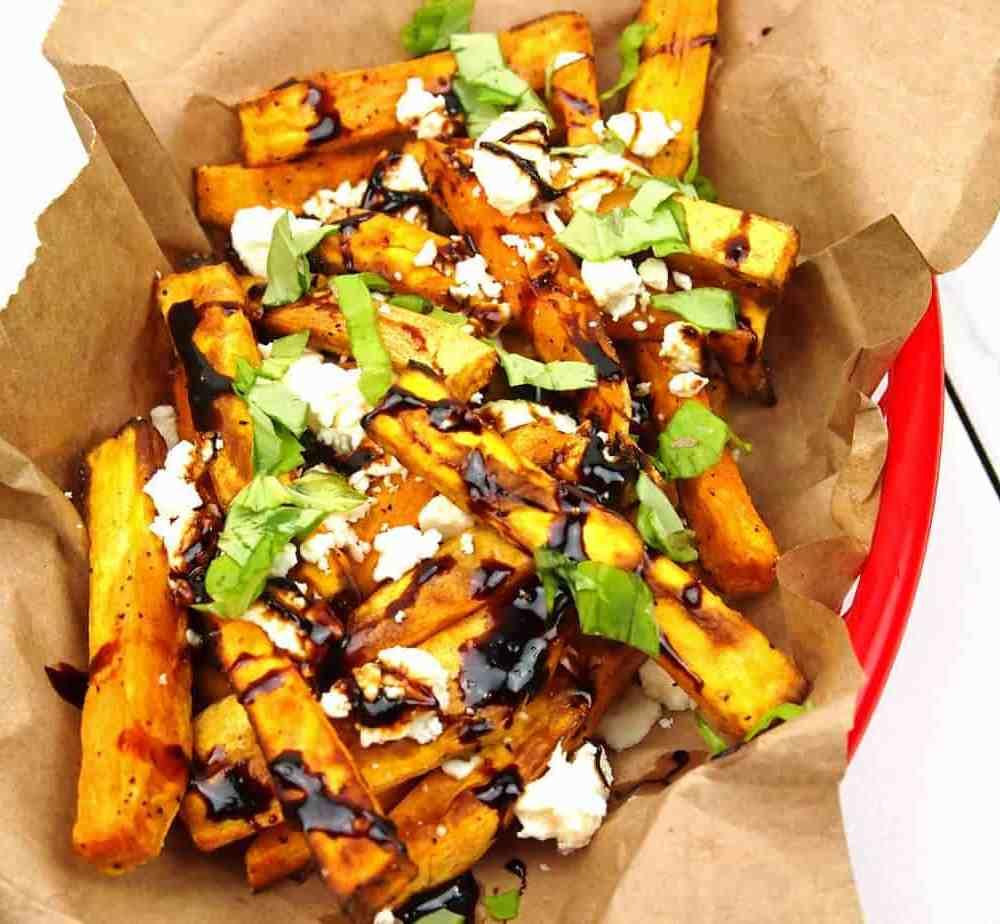 Loaded Sweet Potato Greek Fries