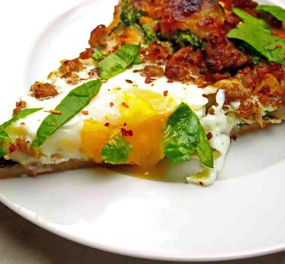 Brunch Pizza with Eggs