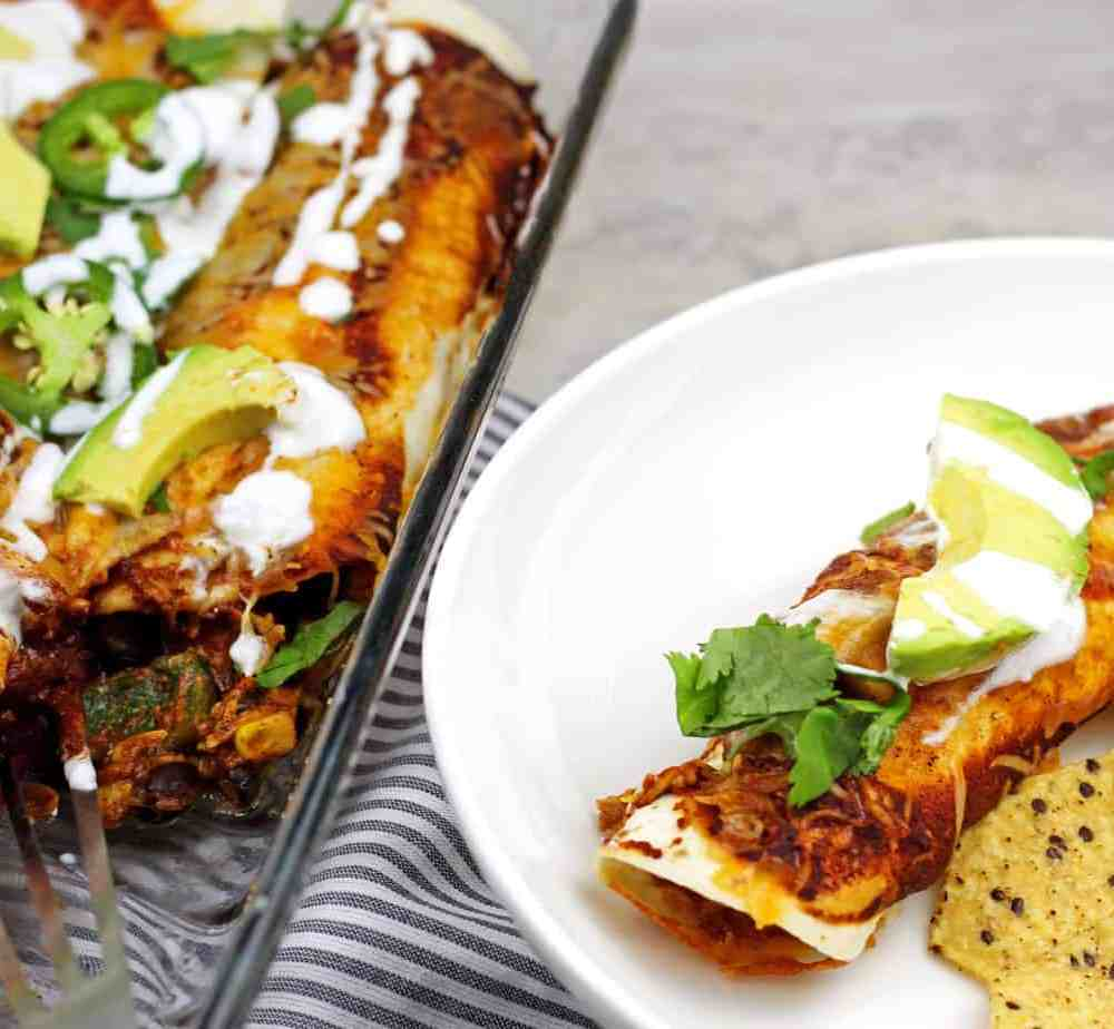 Smoked Chicken Enchiladas