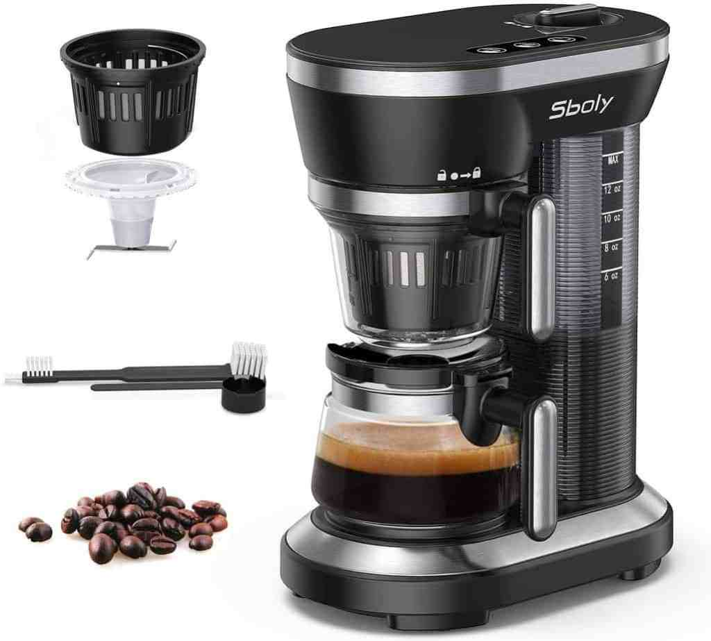 Prime day coffee maker with a built-in grinder