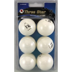 Martin Kilpatrick 3 Star Table Tennis Balls - 6 Pack - 40mm - White - Poly Ping Pong Balls