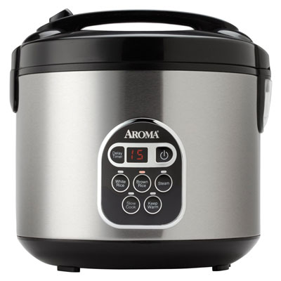 1. Aroma 20-Cup (Cooked) (10 Cup UNCOOKED) Digital Rice Cooker and Food Steamer, Stainless Steel Exterior (ARC-150SB), Top 10 Best Food Steamer 2019 Reviews, Top 10 Best Food Steamers 2019 Reviews