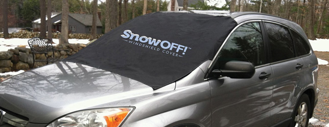 SnowOff Car Windshield Snow Cover and Sunshade Protector Kit