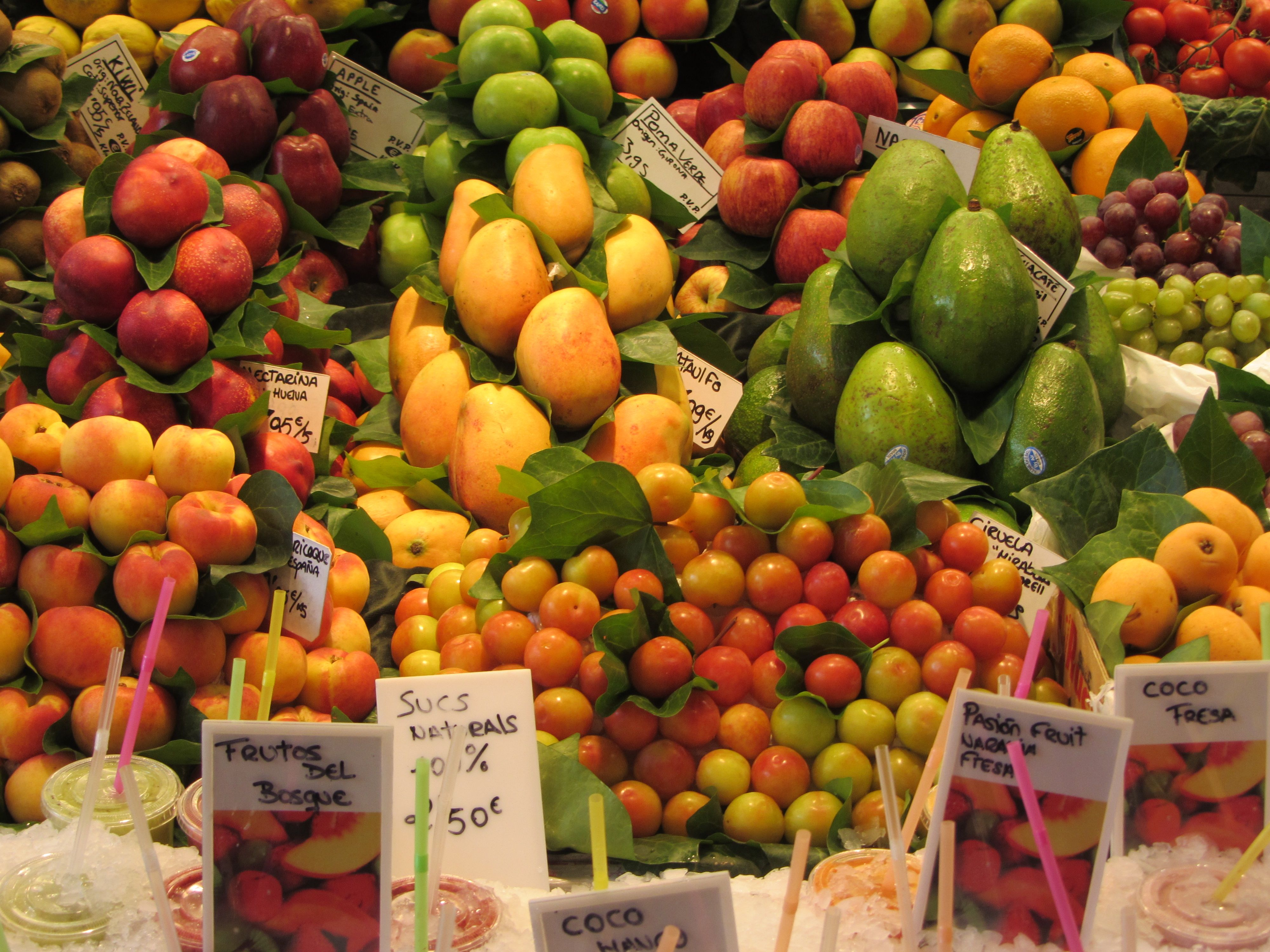 Fruit In Spanish English