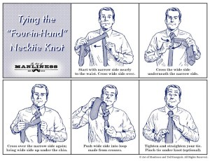 How to Tie a Four In Hand Necktie Knot | AGREEorDIE