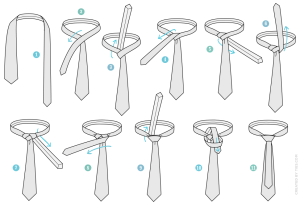How to Tie a Murrell Necktie Knot | AGREEorDIE