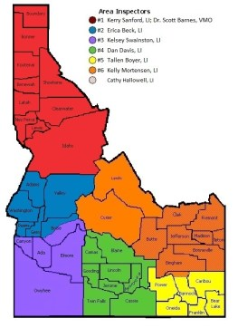 Color-coded map of Livestock Investigator investigation areas