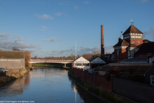 Harvey's Brewery and the River Adur