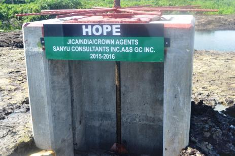 Hope Sluice in the East Demerara Water Conservancy