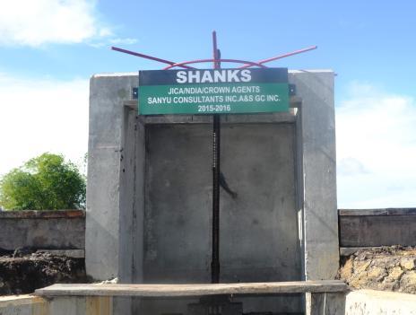 Shanks Sluice in the East Demerara Water Conservancy