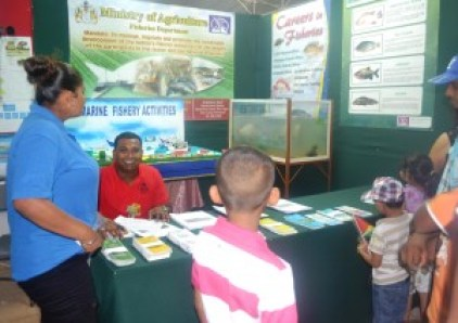 Fisheries department booth at the Berbice Expo