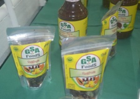 GSA mand vegifruits on display at Berbice Expo