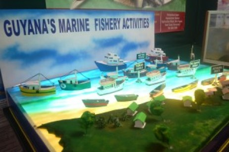 Guyana's Marine Fishery Activities model at the Berbice Expo