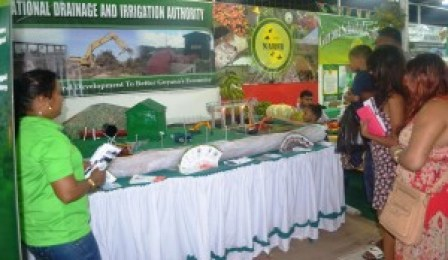 The NDIA booth at the Berbice Expo