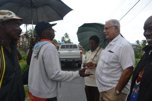 Minister Holder and Team interacts with villagers at Buxton, East Coast Demerara