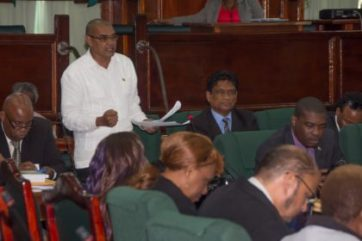 Hemraj Rajkumar expounding the merits of the Animal Welfare Bill to House