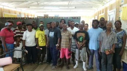 Residents and farmers of Mocha Arcadia, East Bank demerara