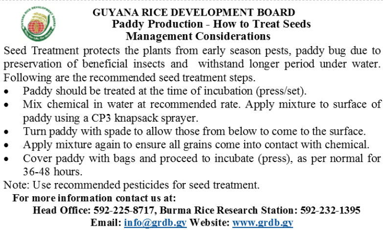Treatment of Seeds