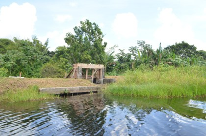 One of the structures along the Boeraserie water conservancy currently under rehabilitation.