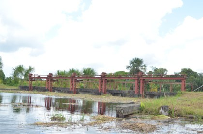 The Five door sluice at Waramia, along the Boeraserie water conservancy, Region Three.