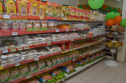 Locally produced items on sale at the Guyana Shop.