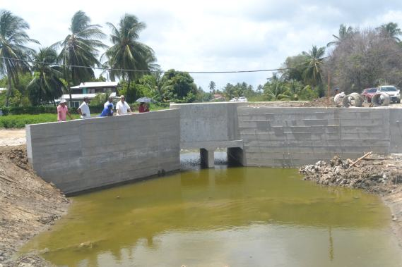 Access bridge to Lusignan Pump Station that was also included in the project.