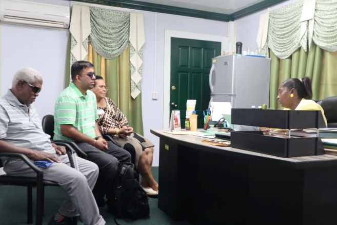 Minister Valerie Adams-Yearwod while meeting with representatives from the Guyana Council of Organizations for Persons with Disabilities (PwDs)